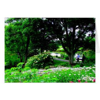 Un paseo en el arboreto de $cox - Dayton, Ohio Tarjetón