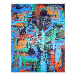 """Un paseo en el bosque - arte abstracto folleto 8.5"""" x 11"""""""