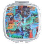 Un paseo en el bosque - arte abstracto pintado a m espejos para el bolso