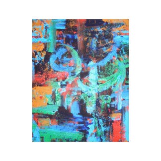 Un paseo en el bosque - lona de arte abstracto