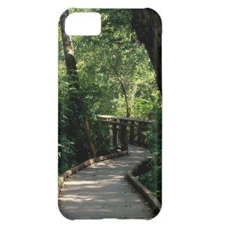 Un paseo en el caso del iPhone 5 de maderas