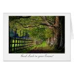 Un paseo en el parque - buena suerte en sus tarjeta de felicitación