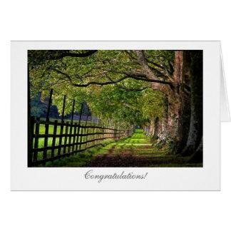 Un paseo en el parque - enhorabuena general tarjeta de felicitación