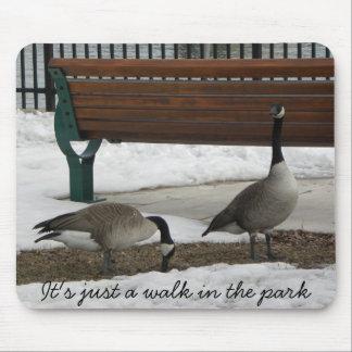 Un paseo en el parque, es apenas un paseo en el pa alfombrilla de raton