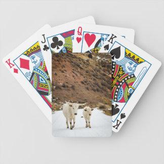 Un paseo en la nieve barajas de cartas