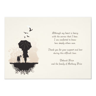 """Un paseo en la pérdida de la lluvia le agradece invitación 5"""" x 7"""""""