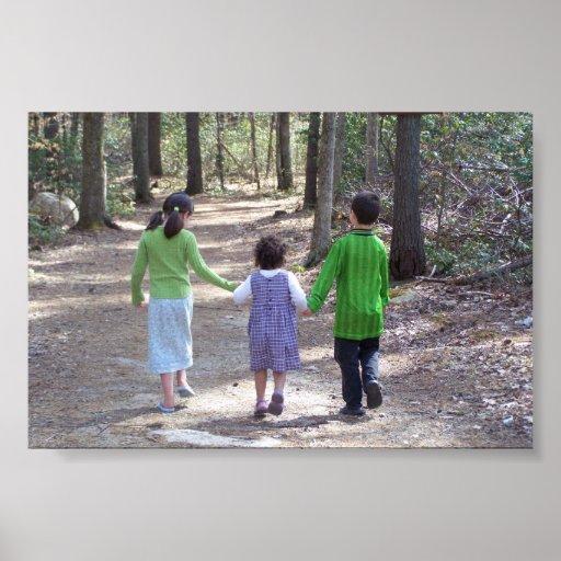 Un paseo en las maderas impresiones