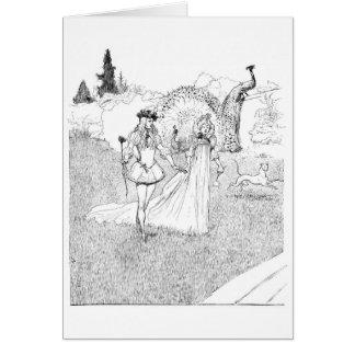 Un paseo en un sueño romántico tarjeta de felicitación