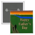 Un paseo reservado del padre y del hijo pin