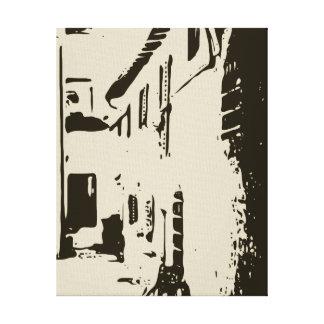 Un pasillo toscano del ladrillo de Roma Impresiones En Lona