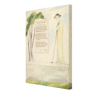 Un pastor que lee el epitafio, de la elegía escrit impresiones en lona estiradas