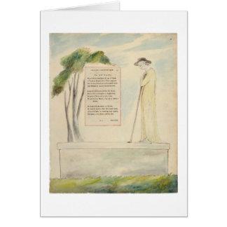 Un pastor que lee el epitafio, de la elegía escrit tarjeta de felicitación