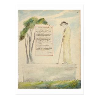 Un pastor que lee el epitafio, de la elegía tarjetas postales