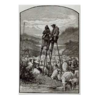 Un pastoral en las Landas Póster