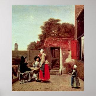 Un patio holandés, c.1658-60 impresiones