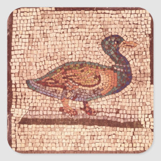 Un pato, detalle de Orfeo que encanta los animales Calcomania Cuadradas Personalizadas
