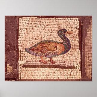 Un pato, detalle de Orfeo que encanta los animales Póster