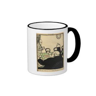 Un patrón despide a uno de sus empleados tazas de café