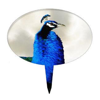 Un pavo real orgulloso decoración de tarta