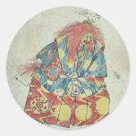 Un payaso que lleva el traje y la máscara pegatinas redondas