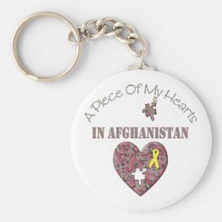 Un pedazo de mis corazones en Afganistán Llavero