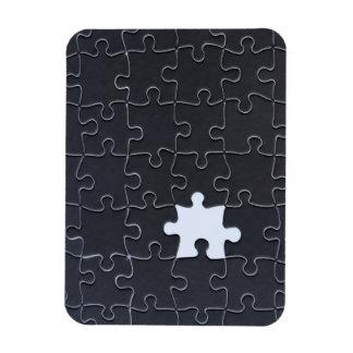 Un pedazo que falta del rompecabezas blanco y negr iman flexible