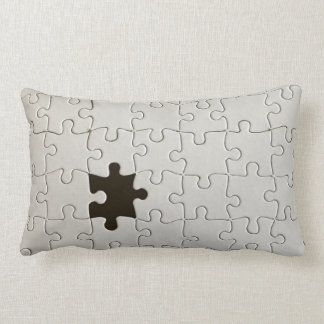 Un pedazo que falta del rompecabezas cojin