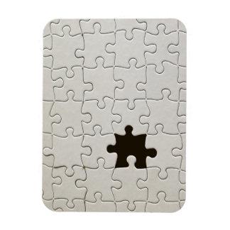 Un pedazo que falta del rompecabezas iman rectangular