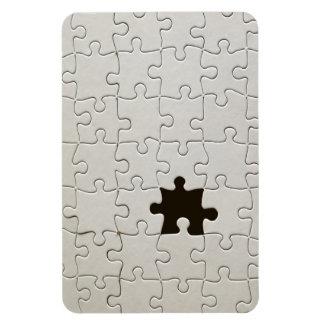Un pedazo que falta del rompecabezas imanes rectangulares