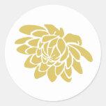 Un pegatina de la flor de Lotus (amarillo)