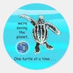 Un pegatina de la tortuga a la vez