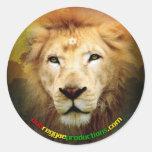 Un pegatina del león del amor