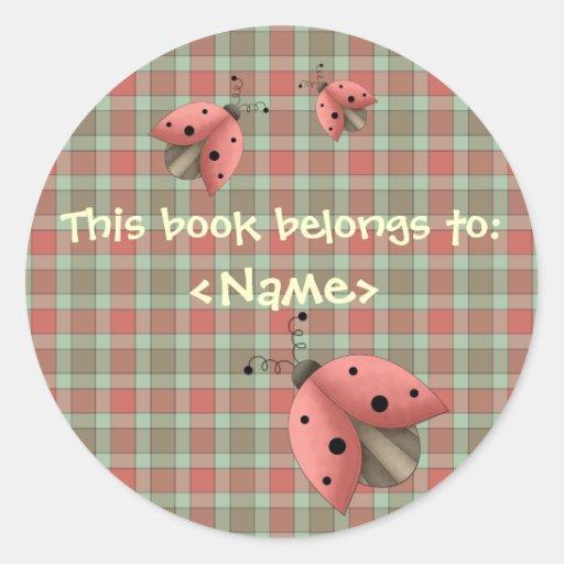 Un pegatina del libro de la mariquita del jardín