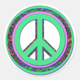 Un pegatina más fresco de la paz