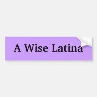 Un pegatina sabio de Latina Bumber Pegatina Para Auto
