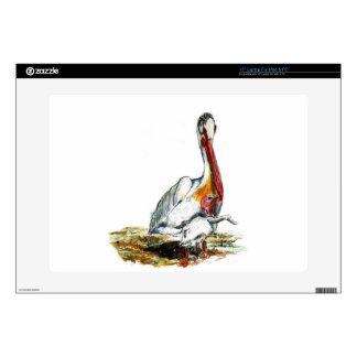 Un pelícano y un polluelo, lápiz de la acuarela portátil skins