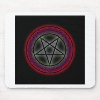 Un pentagram que brilla intensamente alfombrilla de raton