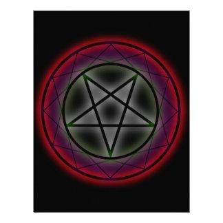 Un pentagram que brilla intensamente membrete
