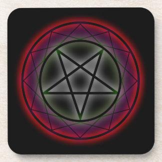Un pentagram que brilla intensamente posavaso