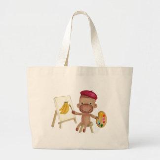 Un pequeño artista Socky el bolso del mono del cal Bolsas
