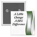 Un pequeño cambio una diferencia grande pin
