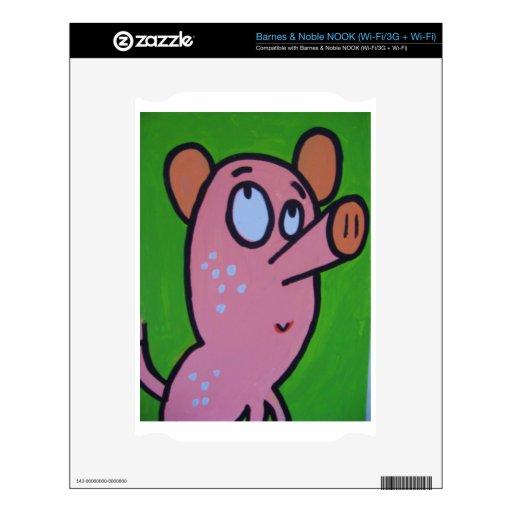 Un pequeño cerdo calcomanías para el NOOK