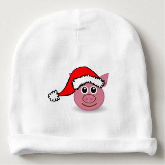 Un pequeño cerdo lindo para el navidad - gorrito para bebe