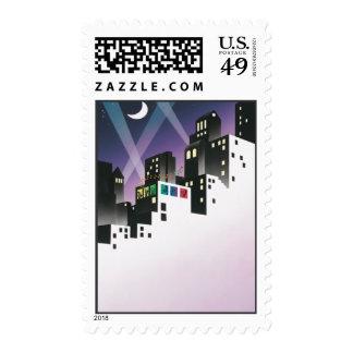 Un pequeño © de la música de la noche timbres postales