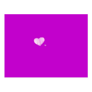 Un pequeño hola rápido - púrpura tarjetas postales