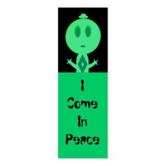 Un pequeño hombre verde, mini señales tarjetas de visita mini