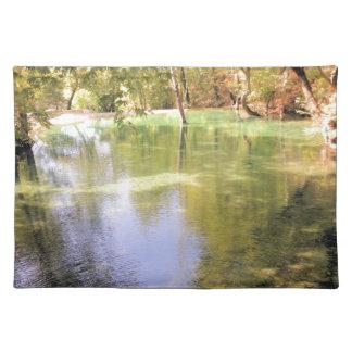 Un pequeño lago, tema de la naturaleza del agua manteles individuales