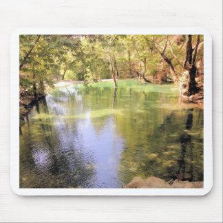 Un pequeño lago, tema de la naturaleza del agua tapetes de ratones