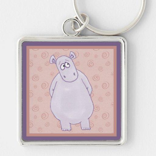 Un pequeño llavero culpable del hipopótamo