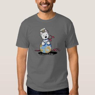 Un pequeño pedazo de cielo en la camiseta de la playera